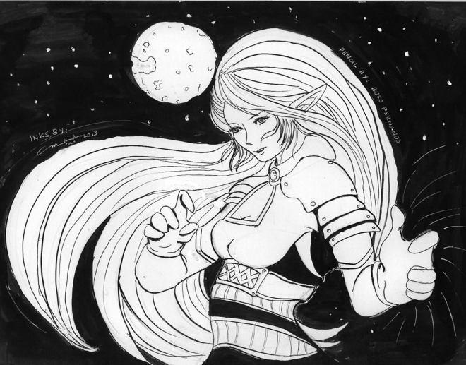 Space Samurai Inking Attempt #1