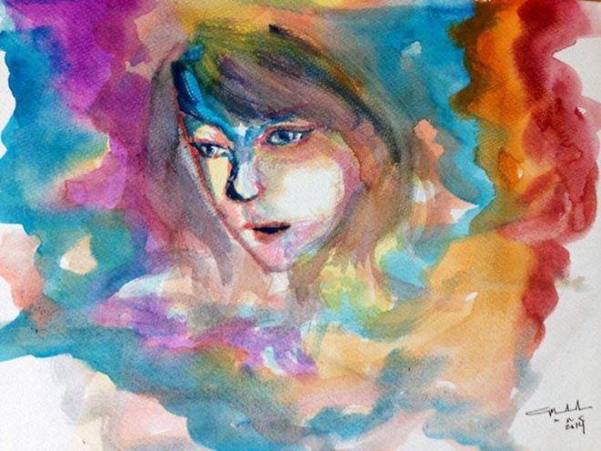 Looking Through Rose Colored Lenses watercolor Watercolor Paper 140 Coldpress ©Little Miss Marikit (Maia Castañeda)