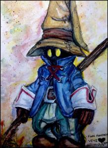 watercolors on Canson Montval took all night but it was worth it!! Vivi is a favorite cutie from ffxi