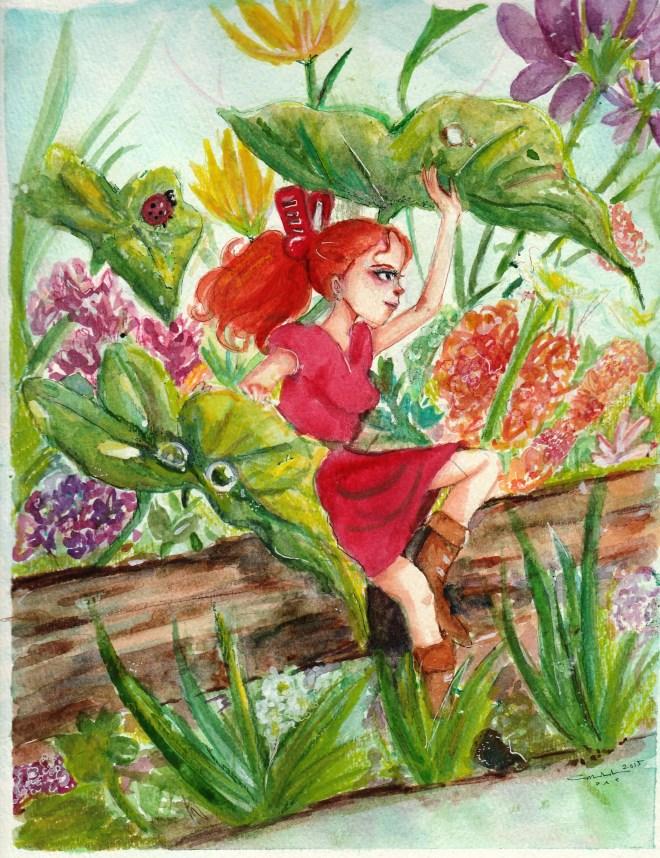 Arrietty in the Flower Garden