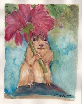 Squirrel, 2015 watercolor