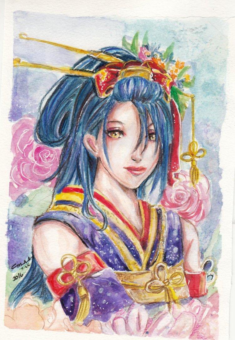 touken_ranbu__jiroutachi_painting_by_littlemissmarikit-d9nr41u