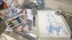 Blue Shadowing for Wonderwoman