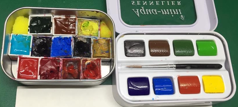 Portable Watercolors: Bringing your Palette withyou